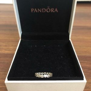 Pandora Heart Diamond Ring Size 7
